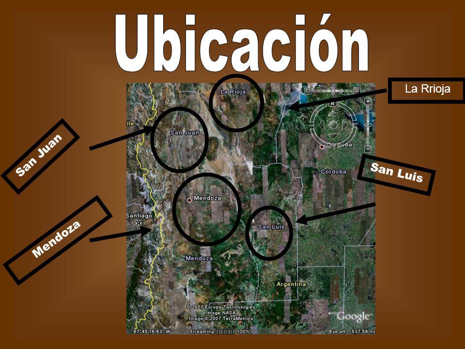 Ubicación La Rrioja San Juan San Luis Mendoza