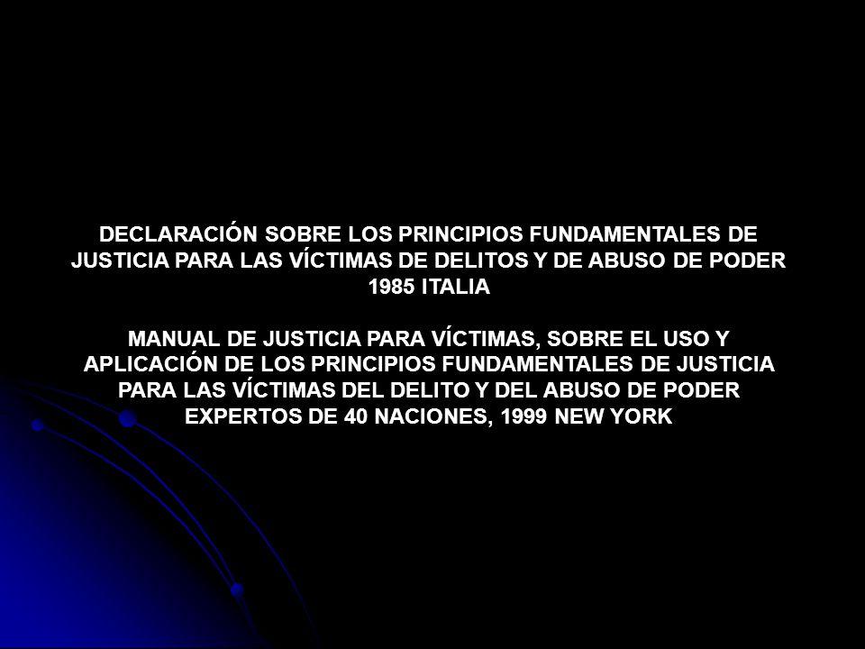 MANUAL DE JUSTICIA PARA VÍCTIMAS, SOBRE EL USO Y