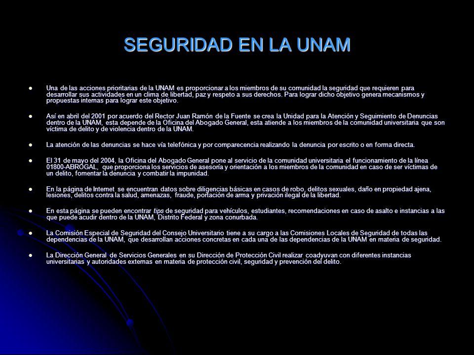 SEGURIDAD EN LA UNAM