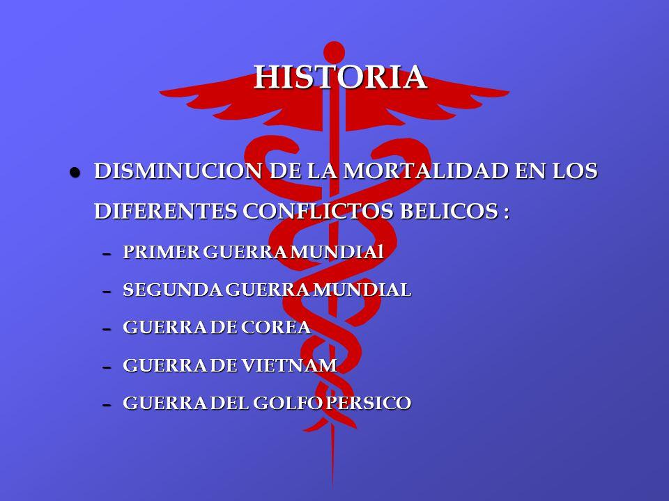 HISTORIA DISMINUCION DE LA MORTALIDAD EN LOS DIFERENTES CONFLICTOS BELICOS : PRIMER GUERRA MUNDIAl.