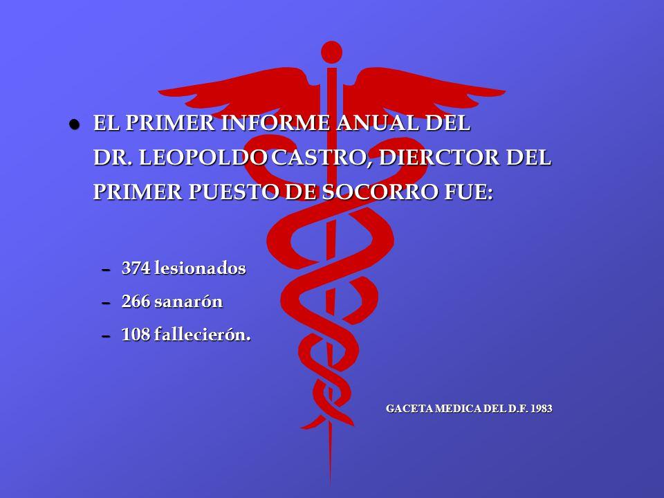 EL PRIMER INFORME ANUAL DEL DR