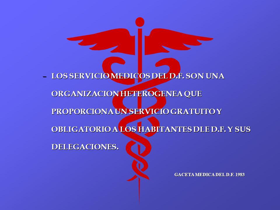 LOS SERVICIO MEDICOS DEL D. F