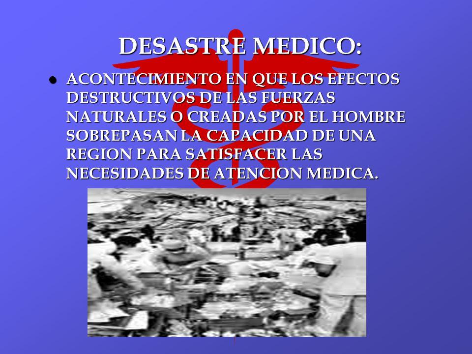 DESASTRE MEDICO: