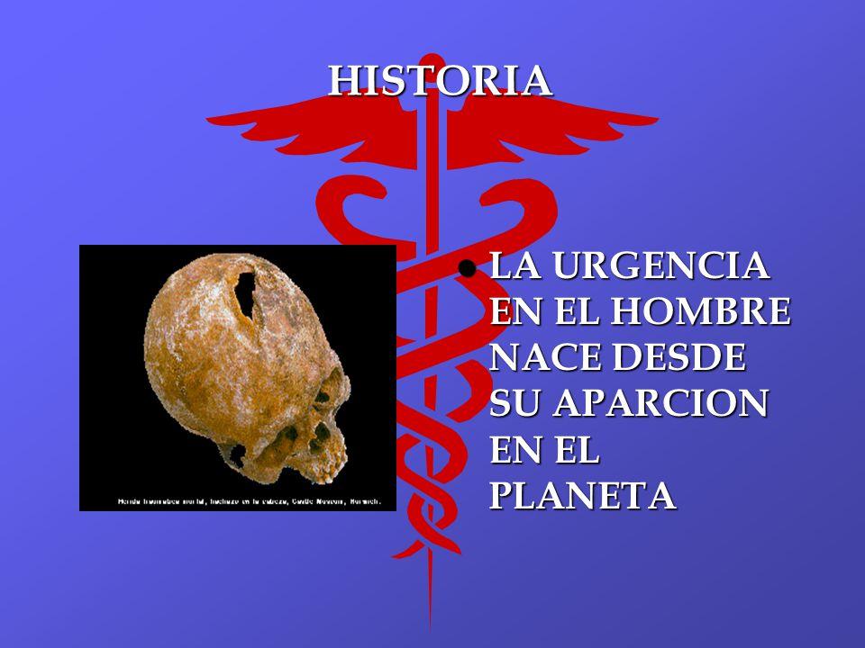 HISTORIA LA URGENCIA EN EL HOMBRE NACE DESDE SU APARCION EN EL PLANETA