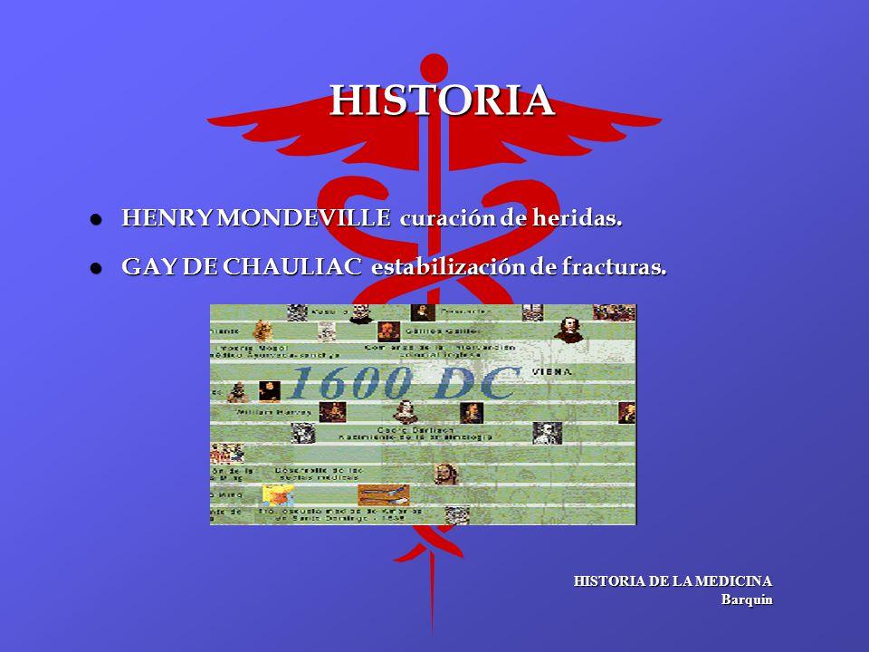 HISTORIA HENRY MONDEVILLE curación de heridas.