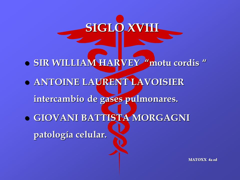 SIGLO XVIII SIR WILLIAM HARVEY motu cordis