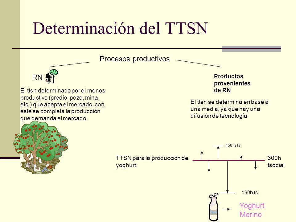 Determinación del TTSN