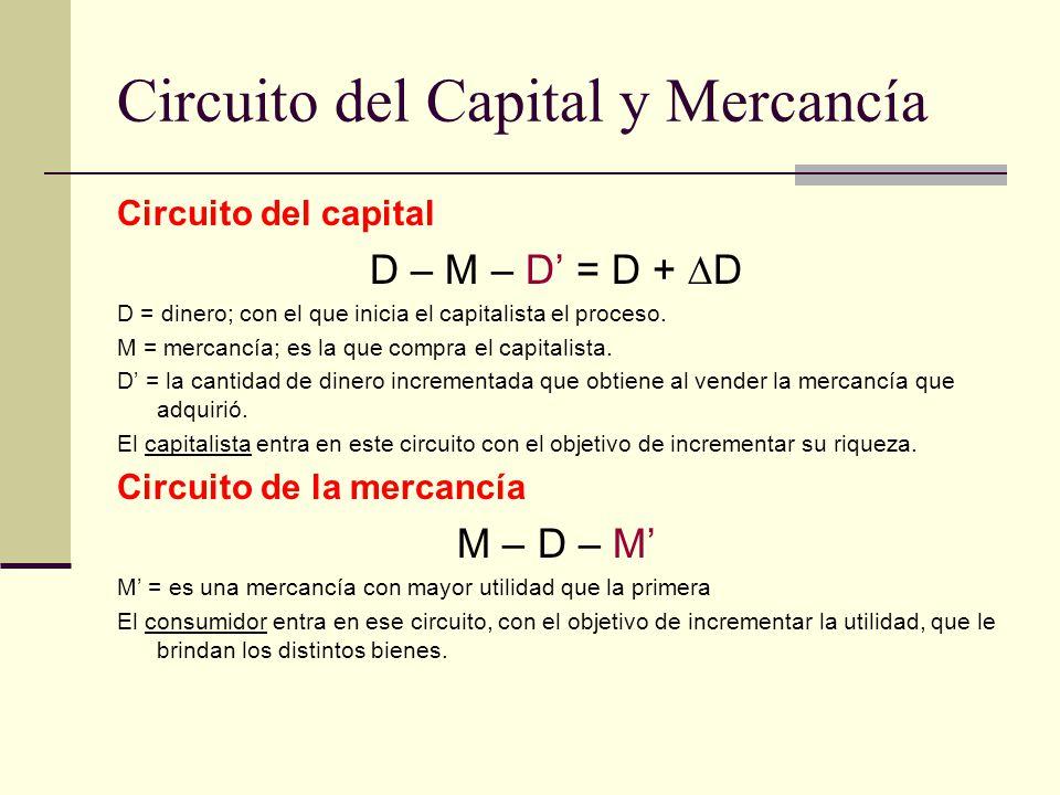 Circuito del Capital y Mercancía