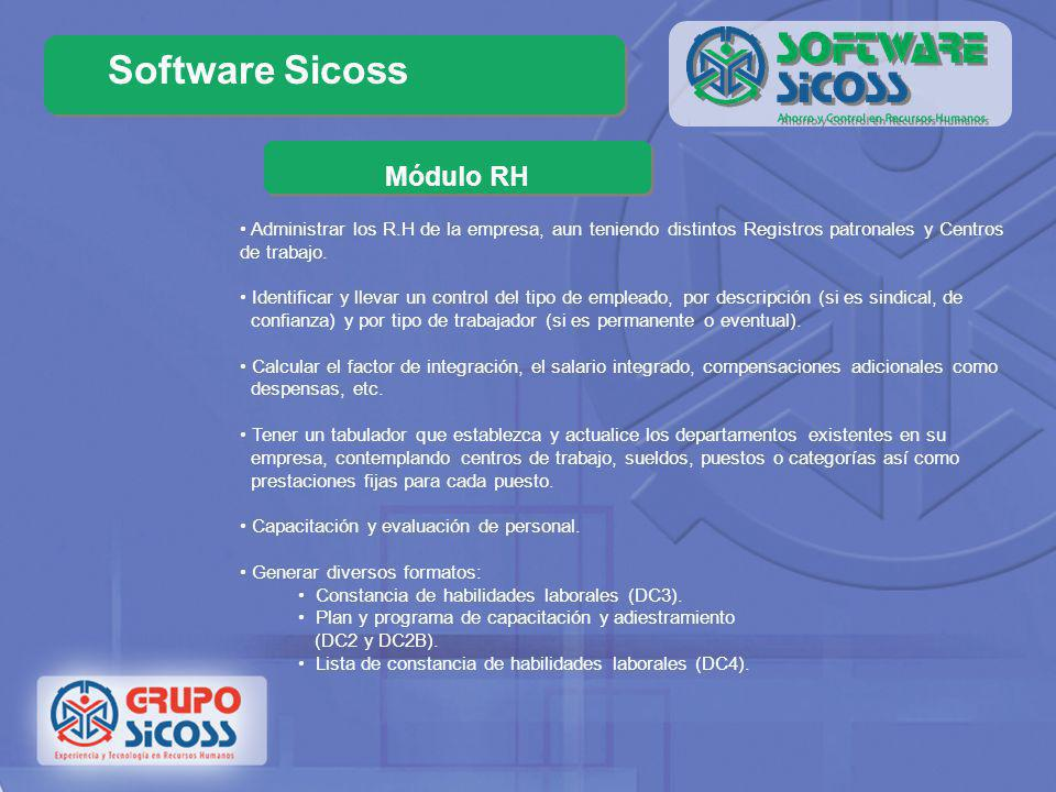 Software Sicoss Módulo RH