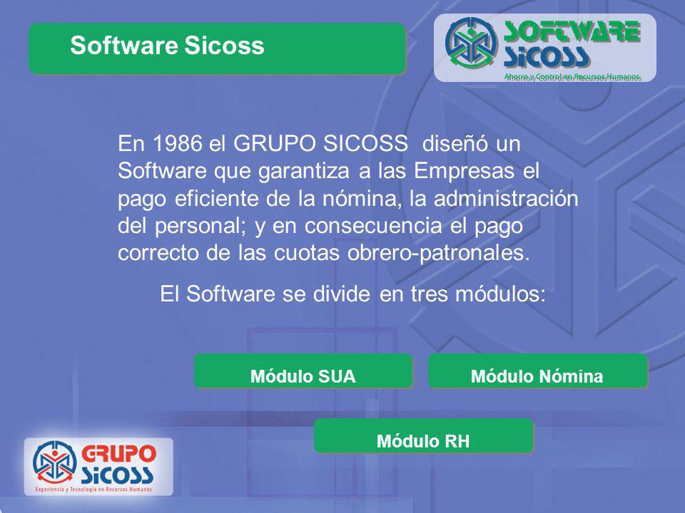 El Software se divide en tres módulos: