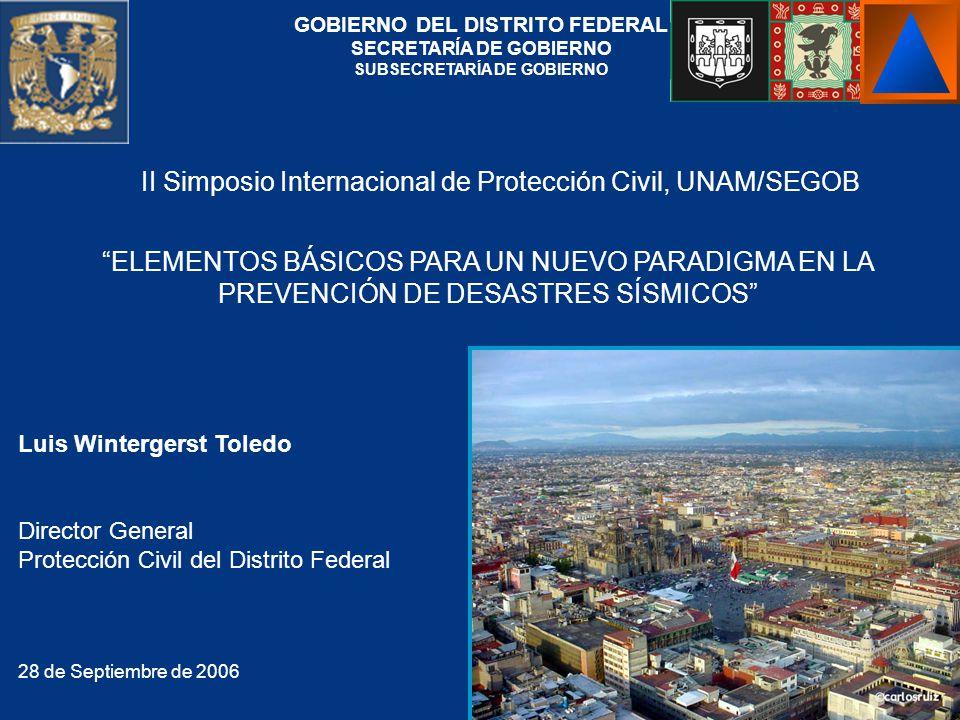 II Simposio Internacional de Protección Civil, UNAM/SEGOB
