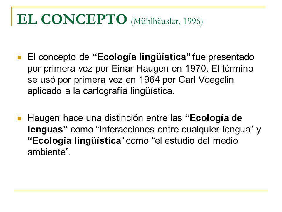 EL CONCEPTO (Mühlhäusler, 1996)