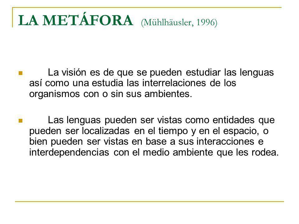 LA METÁFORA (Mühlhäusler, 1996)