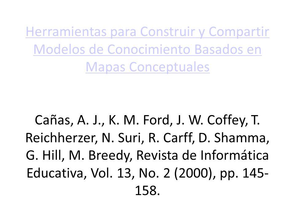 Herramientas para Construir y Compartir Modelos de Conocimiento Basados en Mapas Conceptuales