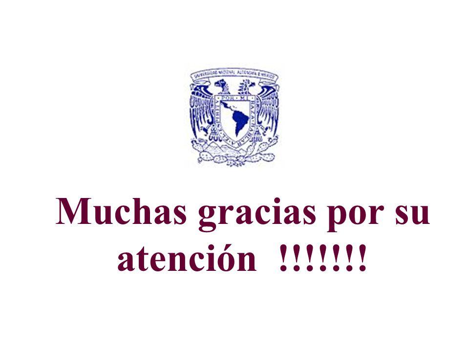 Muchas gracias por su atención !!!!!!!