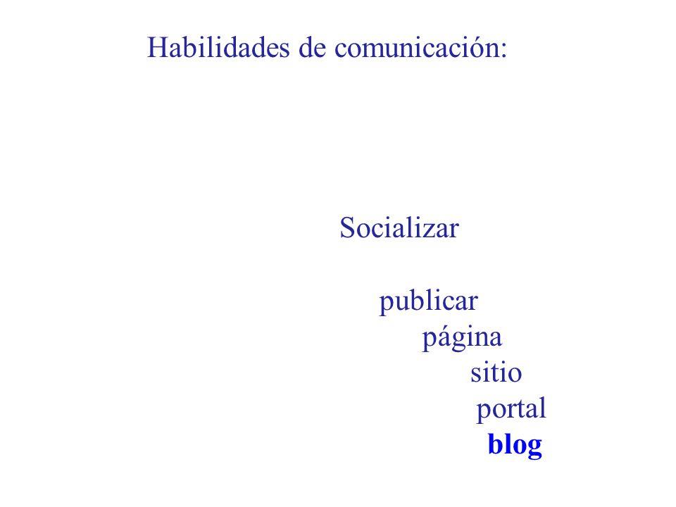 Habilidades de comunicación: