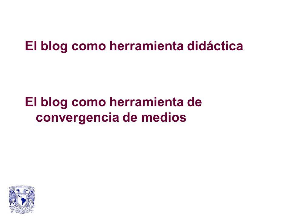 El blog como herramienta didáctica