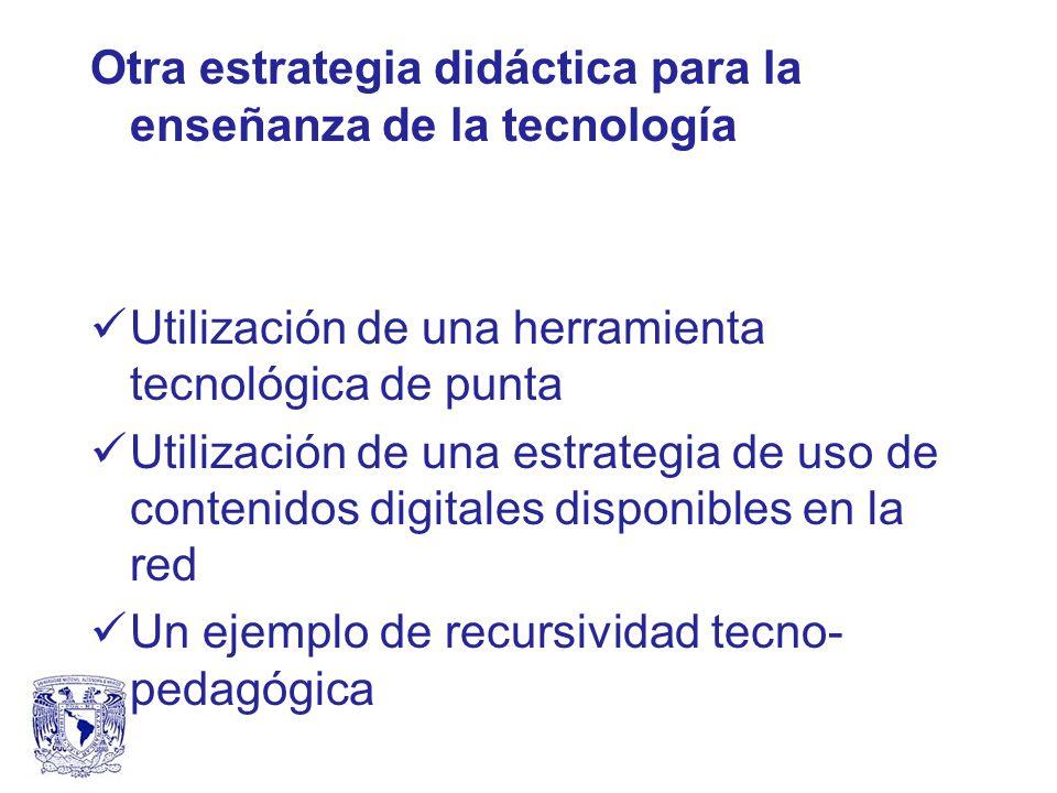 Otra estrategia didáctica para la enseñanza de la tecnología