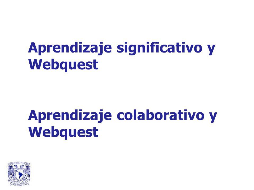Aprendizaje significativo y Webquest