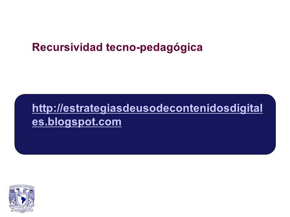 Recursividad tecno-pedagógica