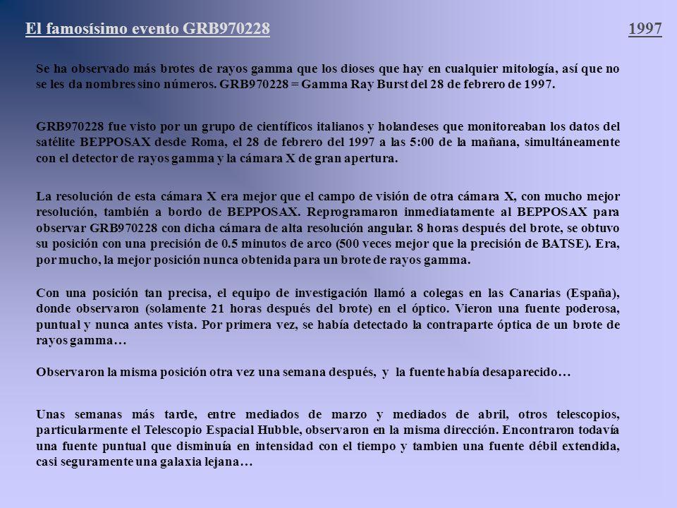 El famosísimo evento GRB970228 1997