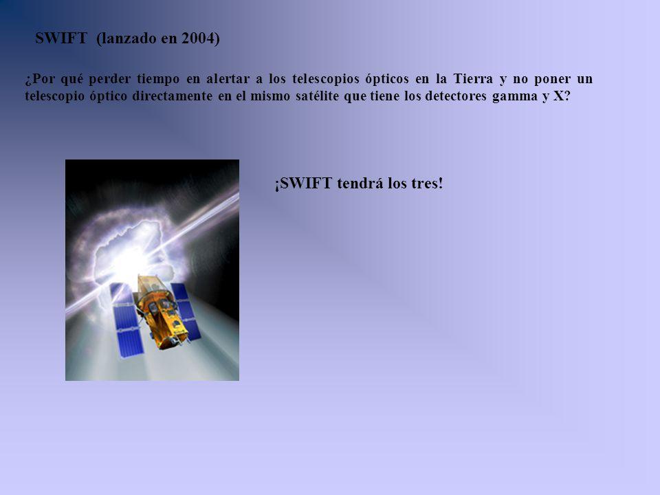 SWIFT (lanzado en 2004) ¡SWIFT tendrá los tres!