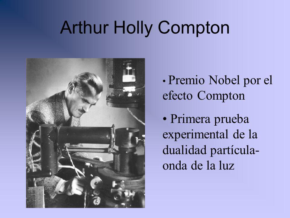 Arthur Holly Compton Premio Nobel por el efecto Compton.