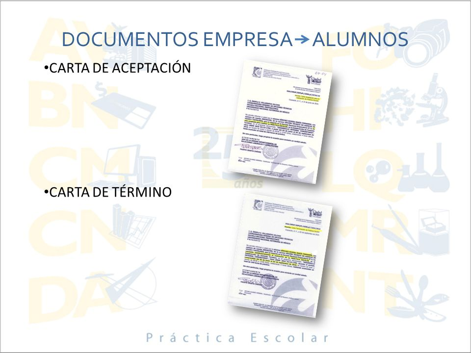 DOCUMENTOS EMPRESA ALUMNOS