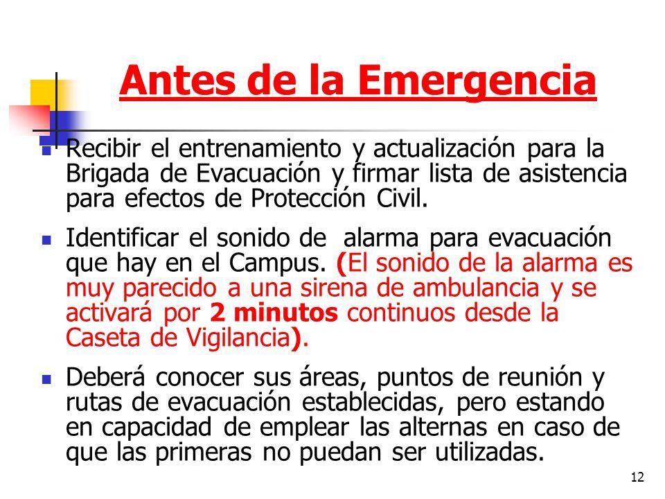 Antes de la Emergencia