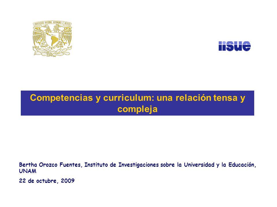 Competencias y curriculum: una relación tensa y compleja