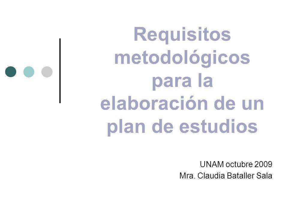 Requisitos metodológicos para la elaboración de un plan de estudios
