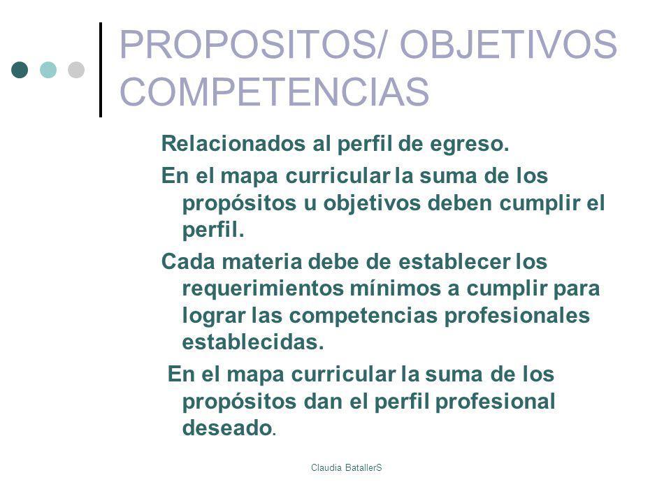 PROPOSITOS/ OBJETIVOS COMPETENCIAS