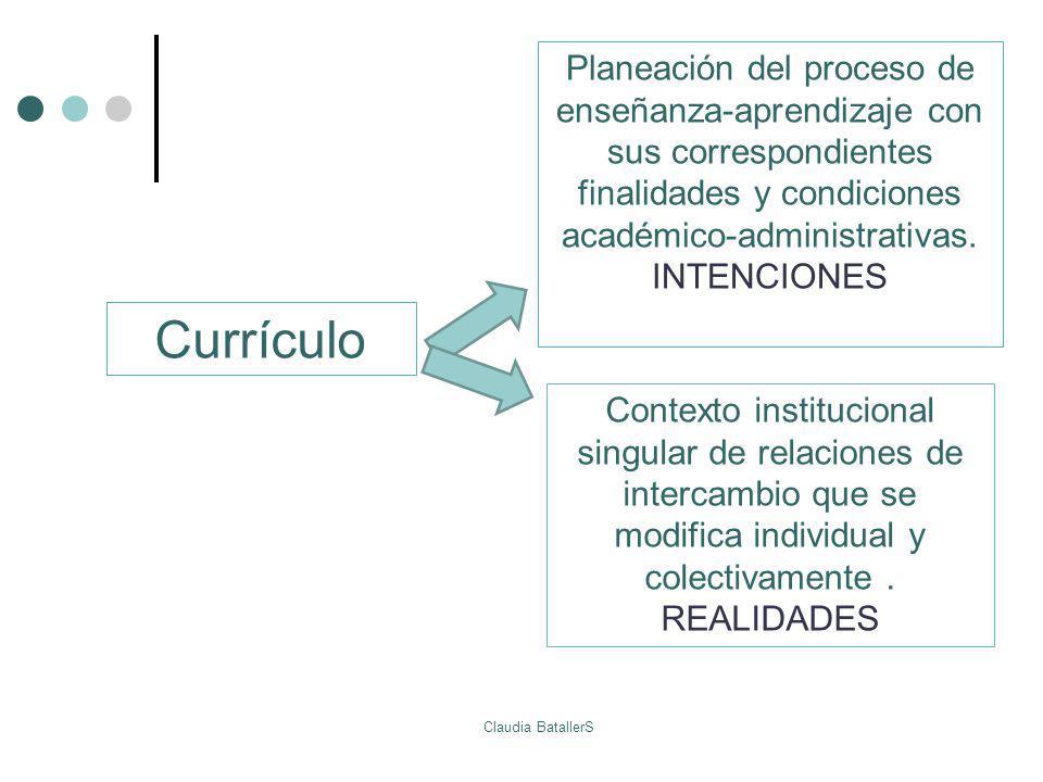 Planeación del proceso de enseñanza-aprendizaje con sus correspondientes finalidades y condiciones académico-administrativas.