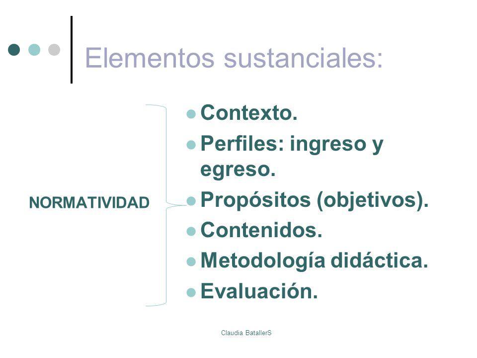 Elementos sustanciales: