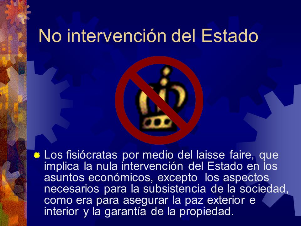 No intervención del Estado