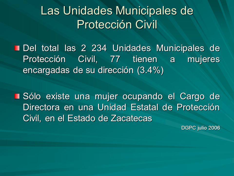Las Unidades Municipales de Protección Civil