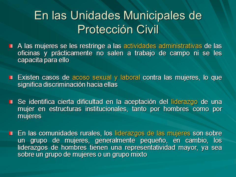 En las Unidades Municipales de Protección Civil