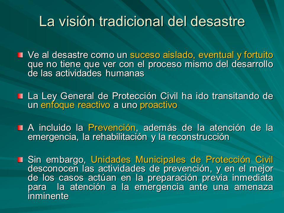 La visión tradicional del desastre