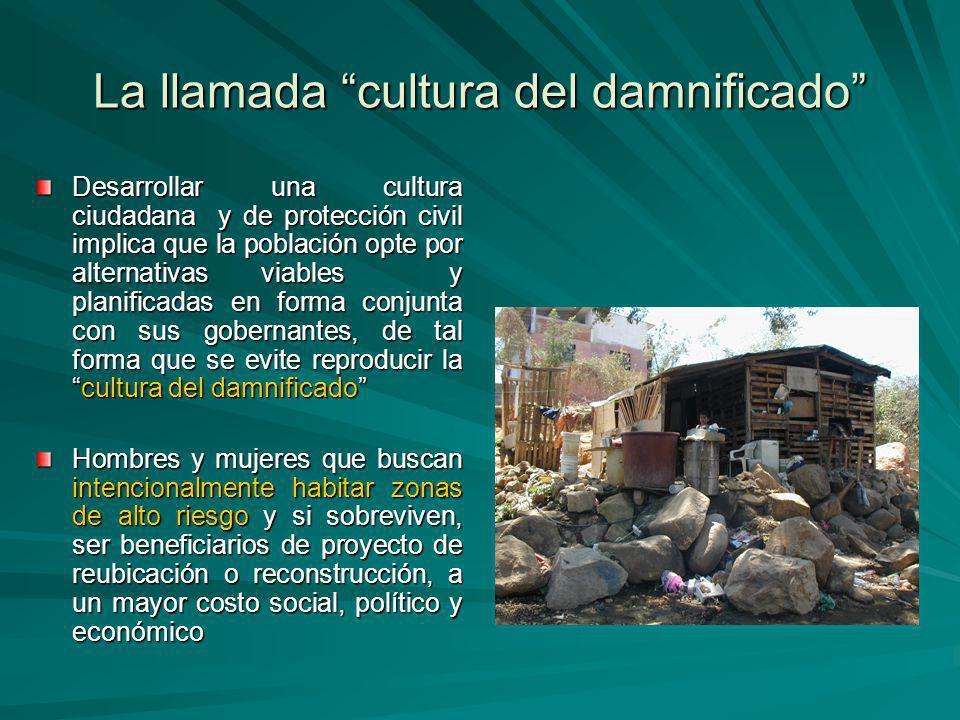La llamada cultura del damnificado