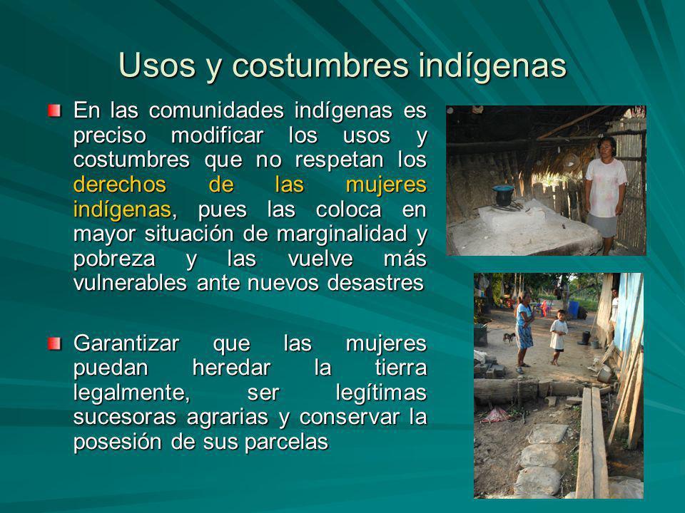 Usos y costumbres indígenas