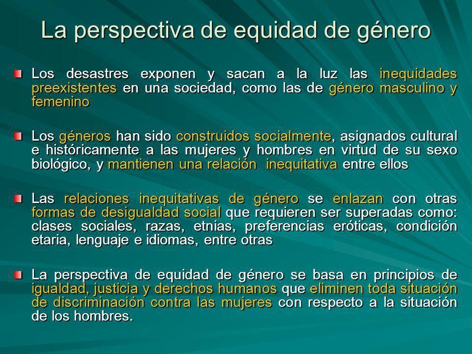La perspectiva de equidad de género
