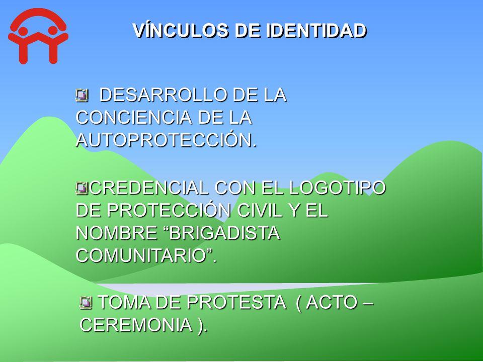 VÍNCULOS DE IDENTIDAD DESARROLLO DE LA CONCIENCIA DE LA AUTOPROTECCIÓN.