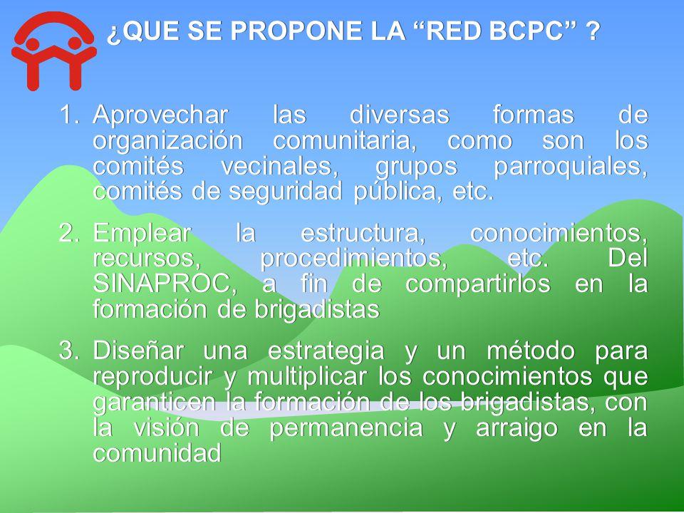 ¿QUE SE PROPONE LA RED BCPC
