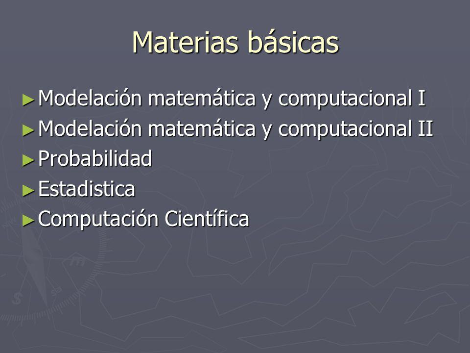 Materias básicas Modelación matemática y computacional I