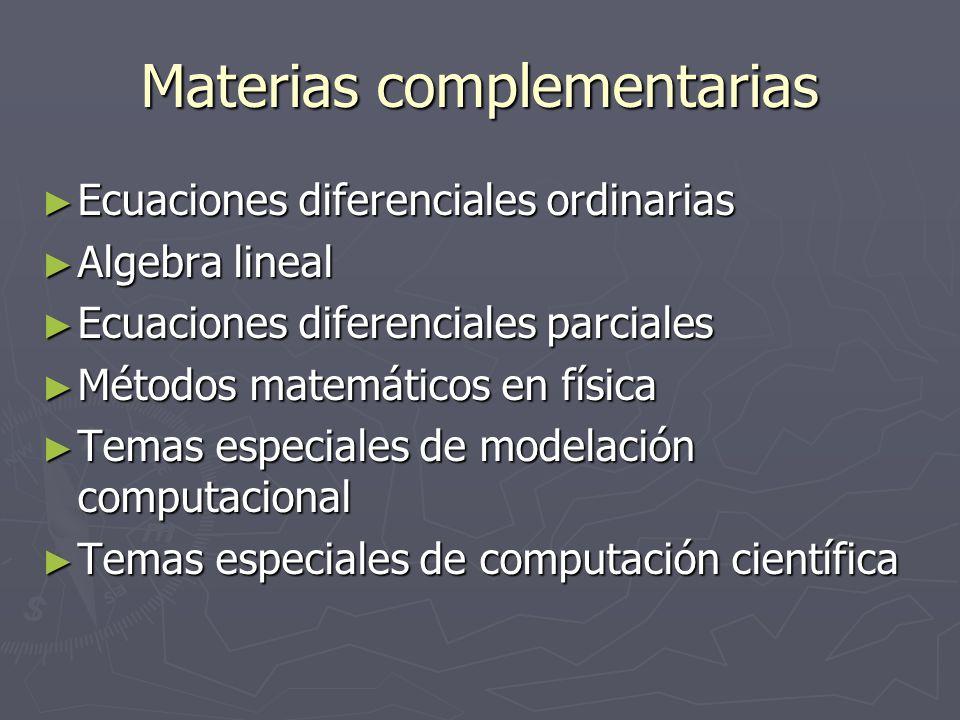 Materias complementarias
