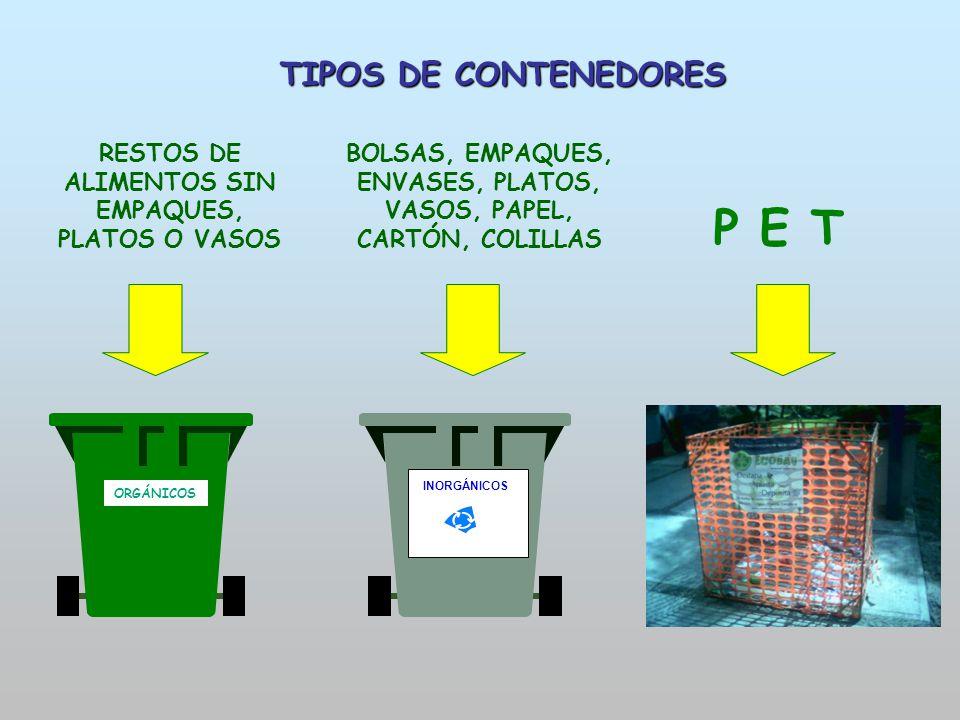 P E T TIPOS DE CONTENEDORES