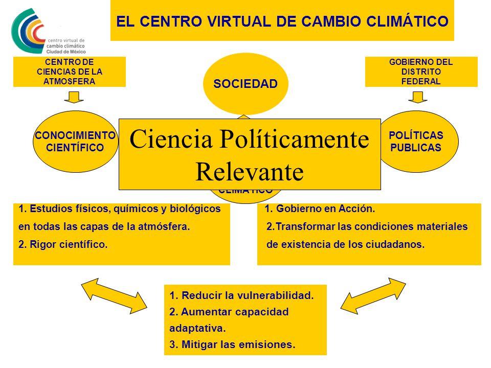 EL CENTRO VIRTUAL DE CAMBIO CLIMÁTICO