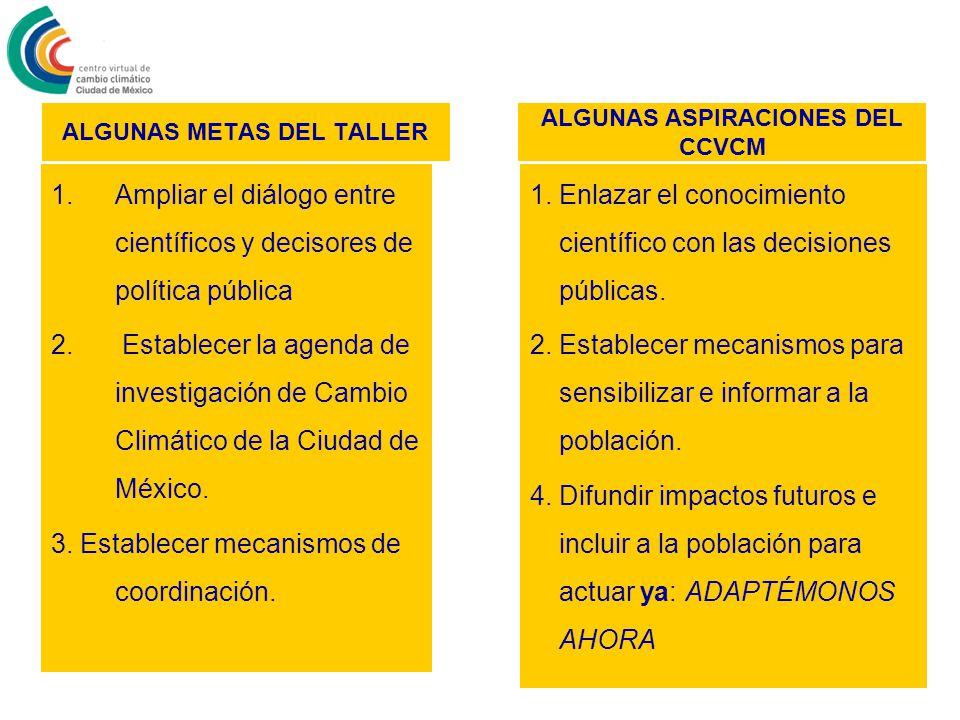ALGUNAS METAS DEL TALLER