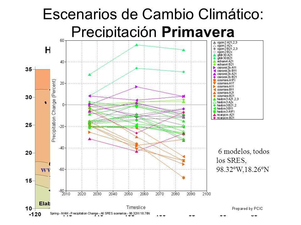 Escenarios de Cambio Climático: Precipitación Primavera