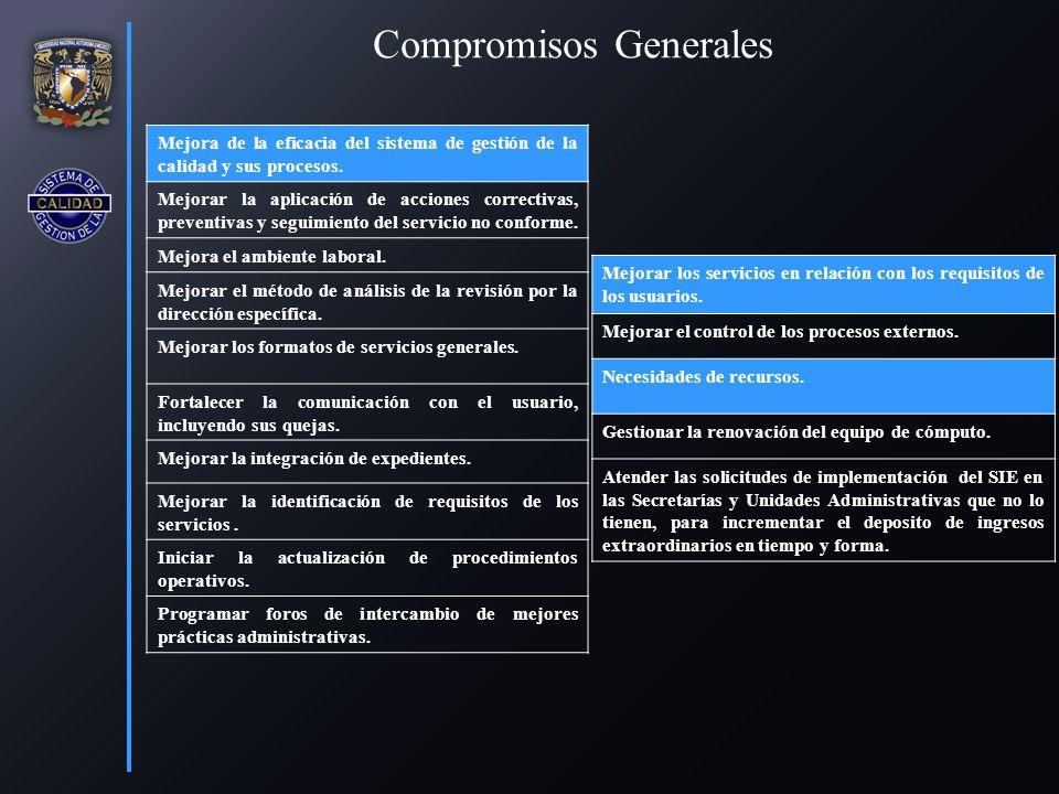 Compromisos Generales